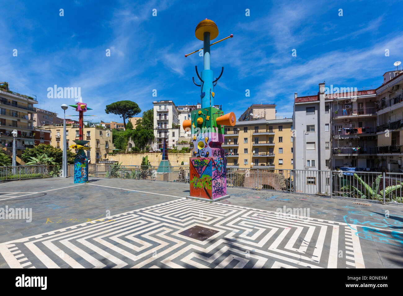 """Naples (Italy) - """"Metro dell'arte"""" is the urban railways line 1, an attraction with its stations and artistic artworks. Salvator Rosa station Stock Photo"""