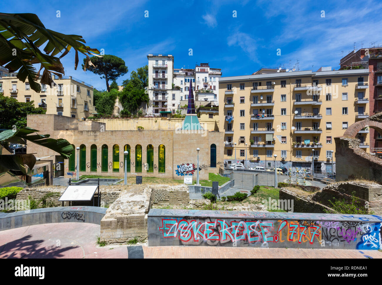 "Naples (Italy) - ""Metro dell'arte"" is the urban railways line 1, an attraction with its stations and artistic artworks. Salvator Rosa station Stock Photo"