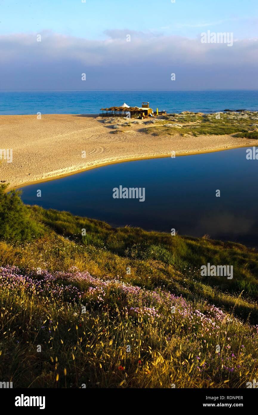 Beach of Badesi Mare, Olbia-Tempio Province, Northern Sardinia, Italy, Europe - Stock Image
