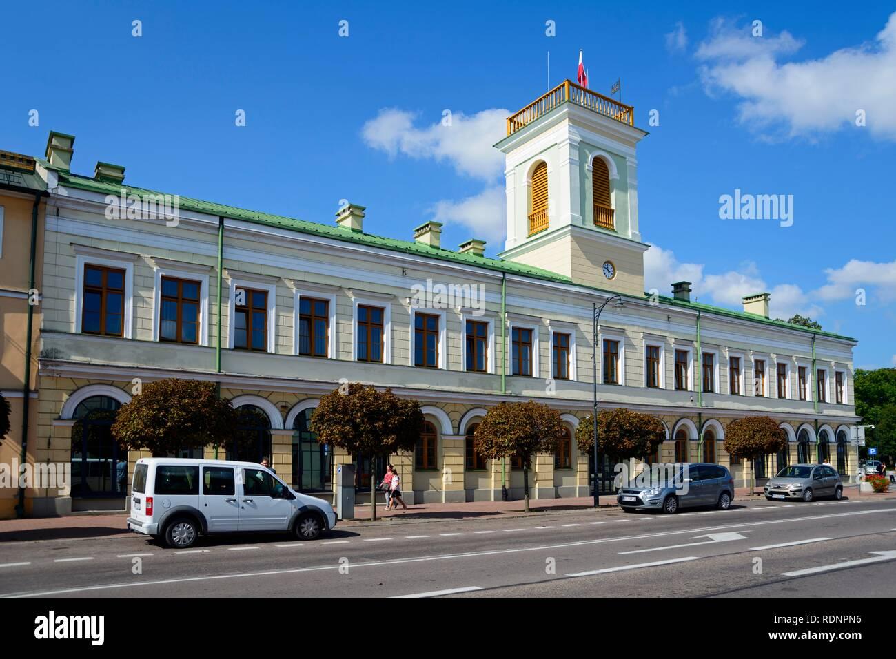 City Hall, Suwalki, Podlaskie, Poland - Stock Image
