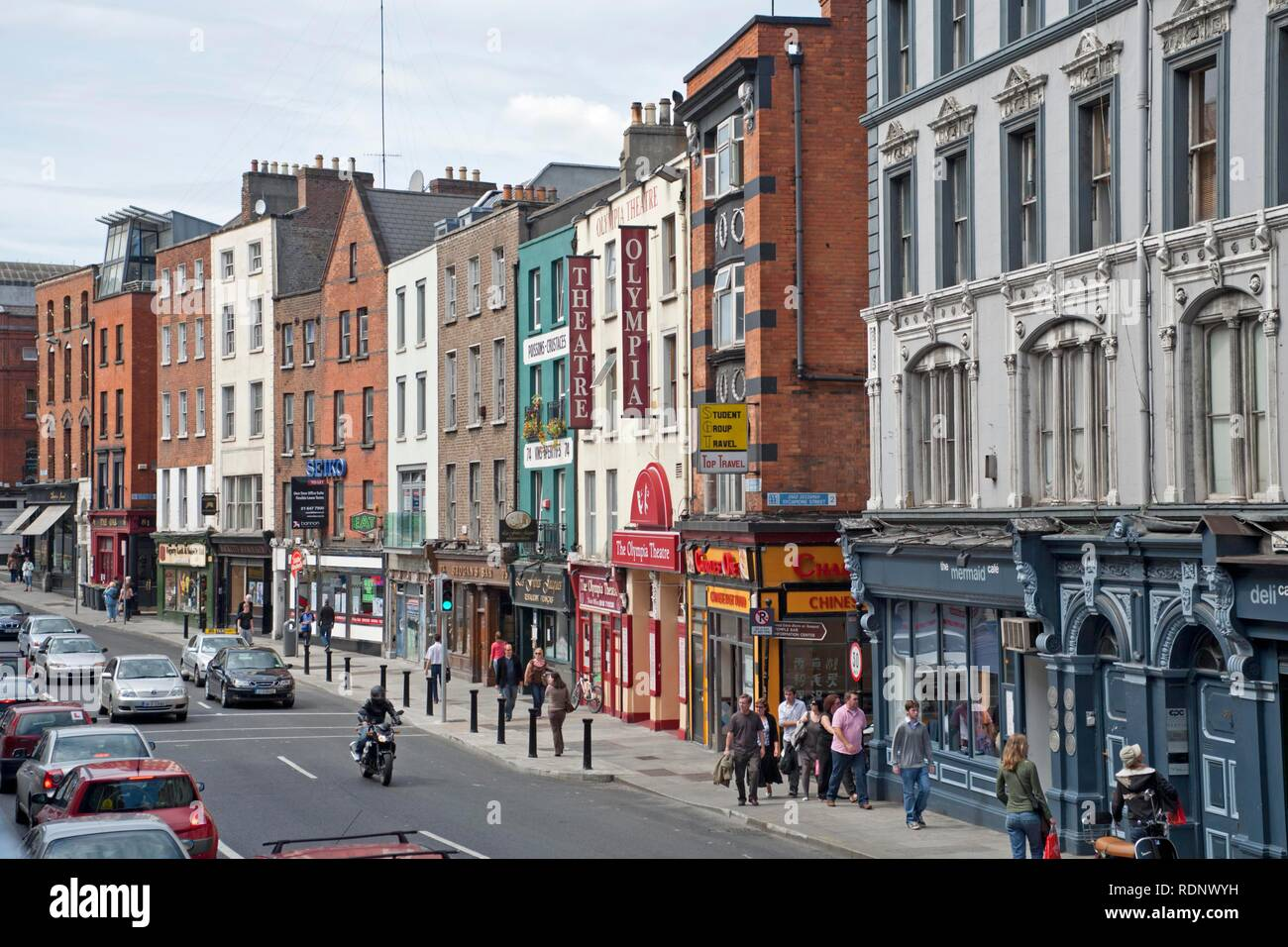 Dame Street with the Olympia Theatre, Dublin, Republic of Ireland, Europe Stock Photo