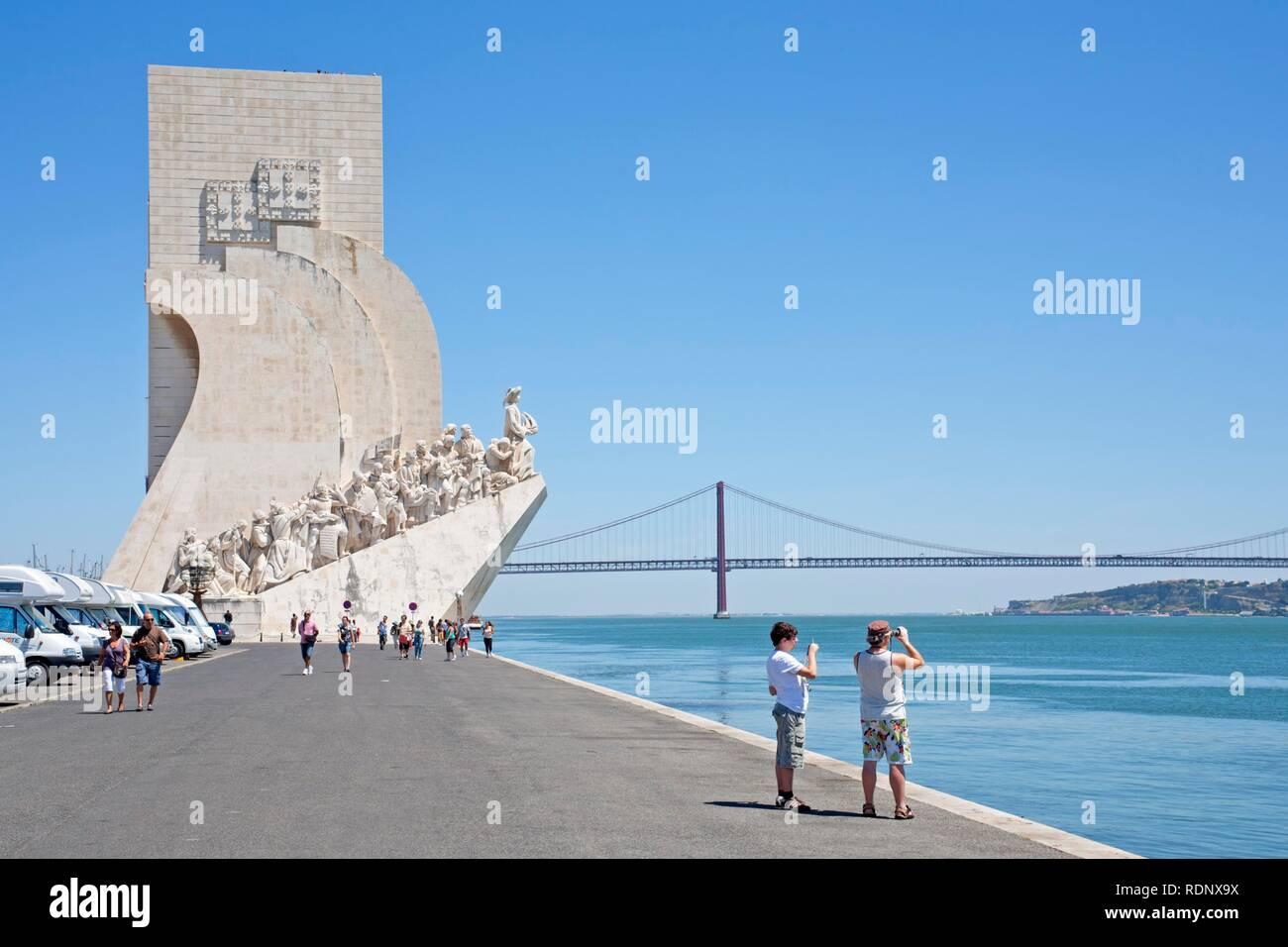 Padrão dos Descobrimentos, Monument to the Discoveries, Belém, Lisbon, Portugal, Europe - Stock Image