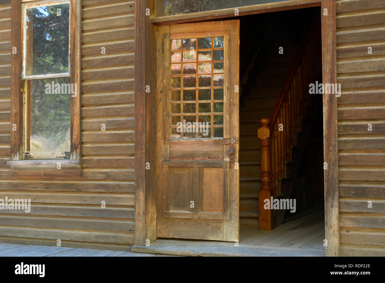 MT00280-00...MONTANA - The J.K. Wells Hotel at the historic ghost town of Garnet, a Bureau of Land Management. - Stock Image