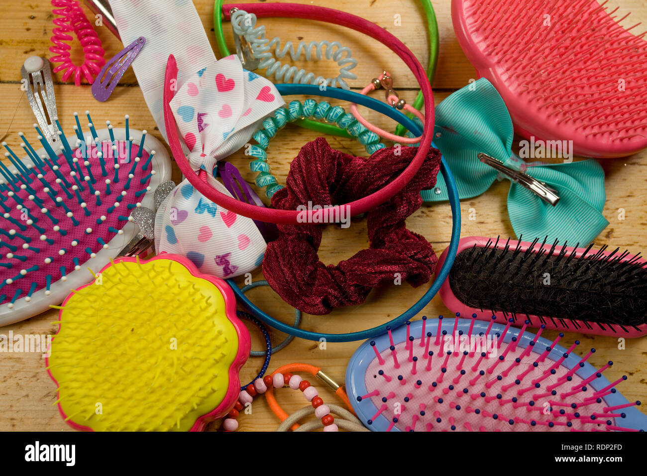 Childrens hair accessories - Stock Image