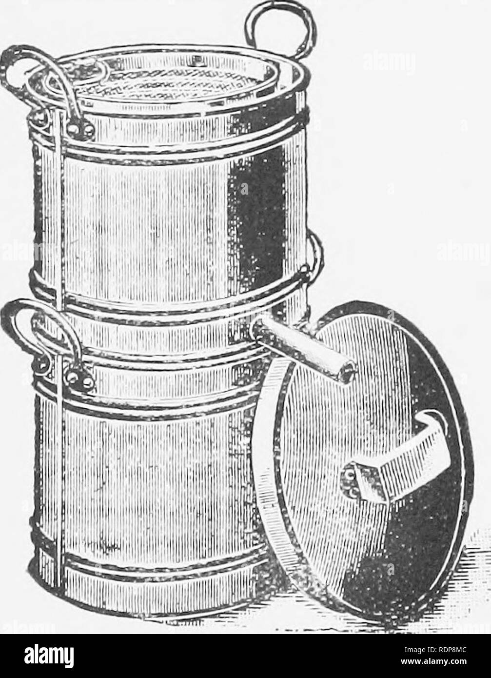 . Collected leaflets on bee keeping. Bees. Fig. 3.—Gerster Wax Extractor Facing p. 28.. Fig. 4.—Cottager Wax Extractor.. Please note that these images are extracted from scanned page images that may have been digitally enhanced for readability - coloration and appearance of these illustrations may not perfectly resemble the original work.. Great Britain. Ministry of Agriculture and Fisheries. London, Metchim & son - Stock Image
