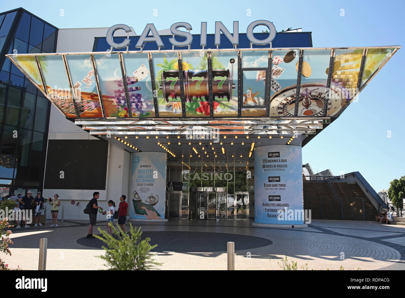 Casino, Cannes in the south of France - Stock Image
