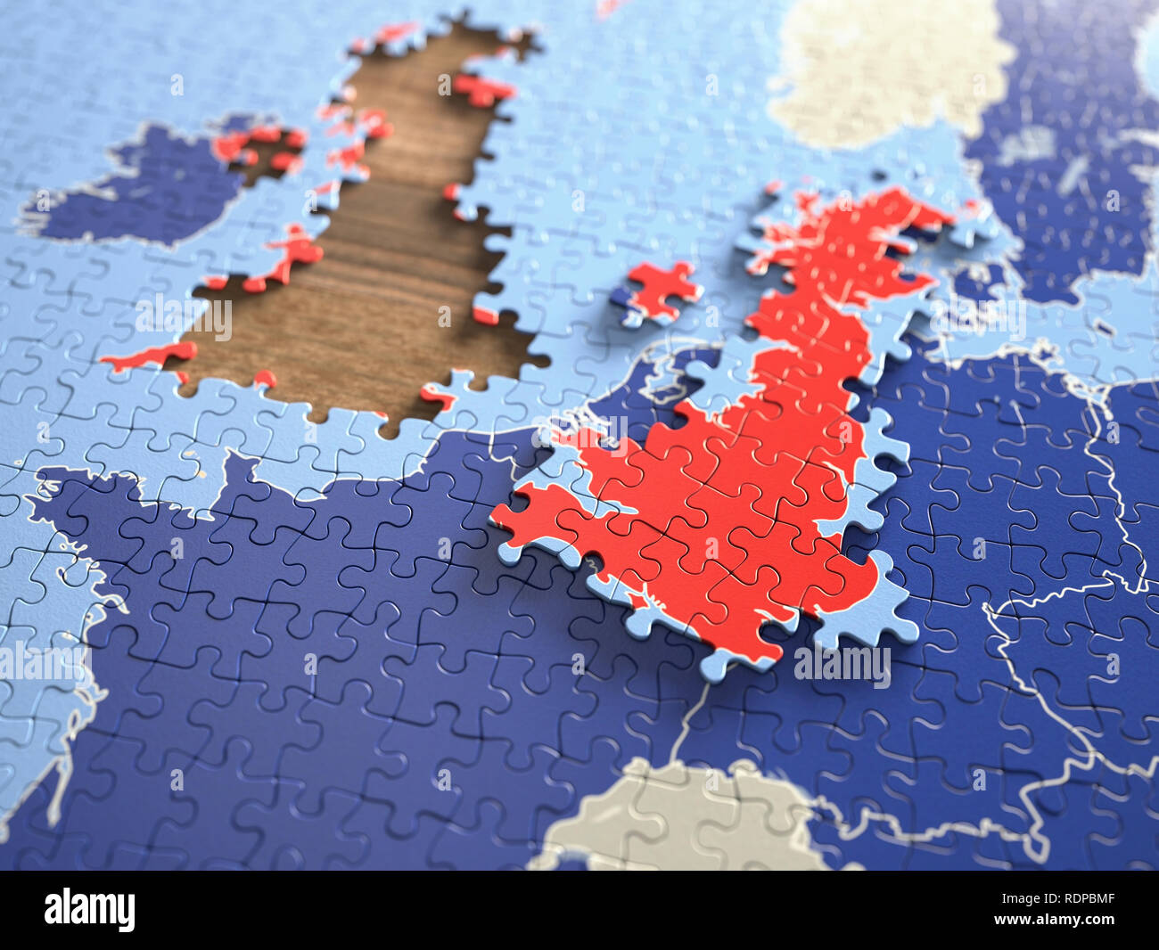 UK leaving the European Union, illustration. - Stock Image