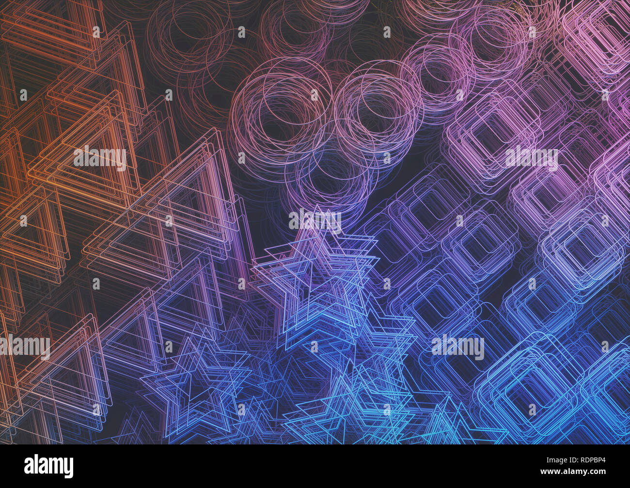 Abstract shapes, illustration - Stock Image