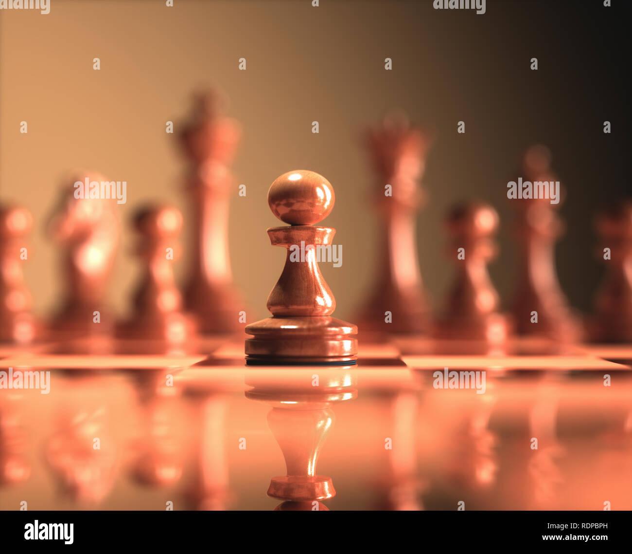 Chess pawn, illustration. - Stock Image