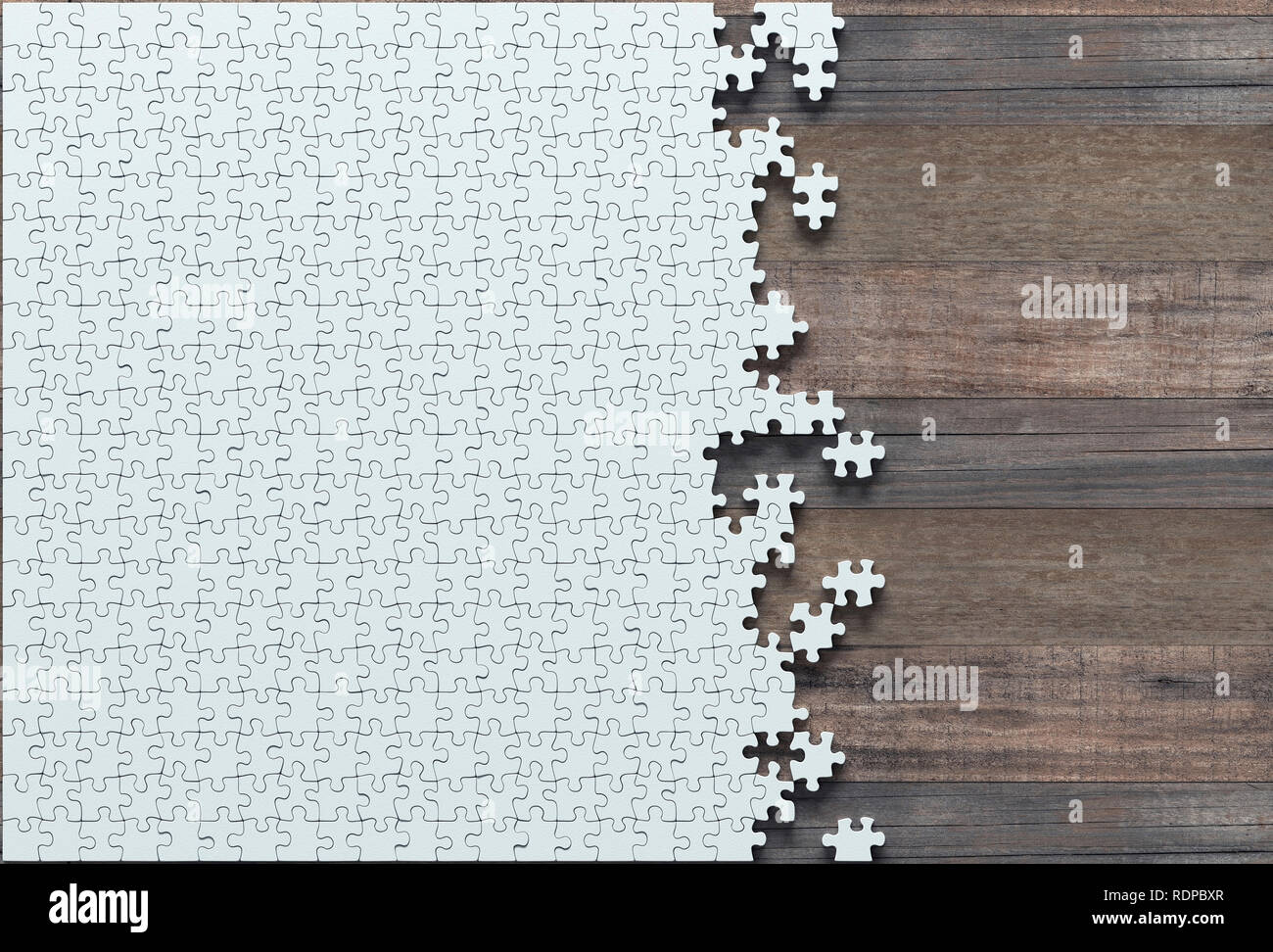 Incomplete jigsaw puzzle pieces, illustration. - Stock Image