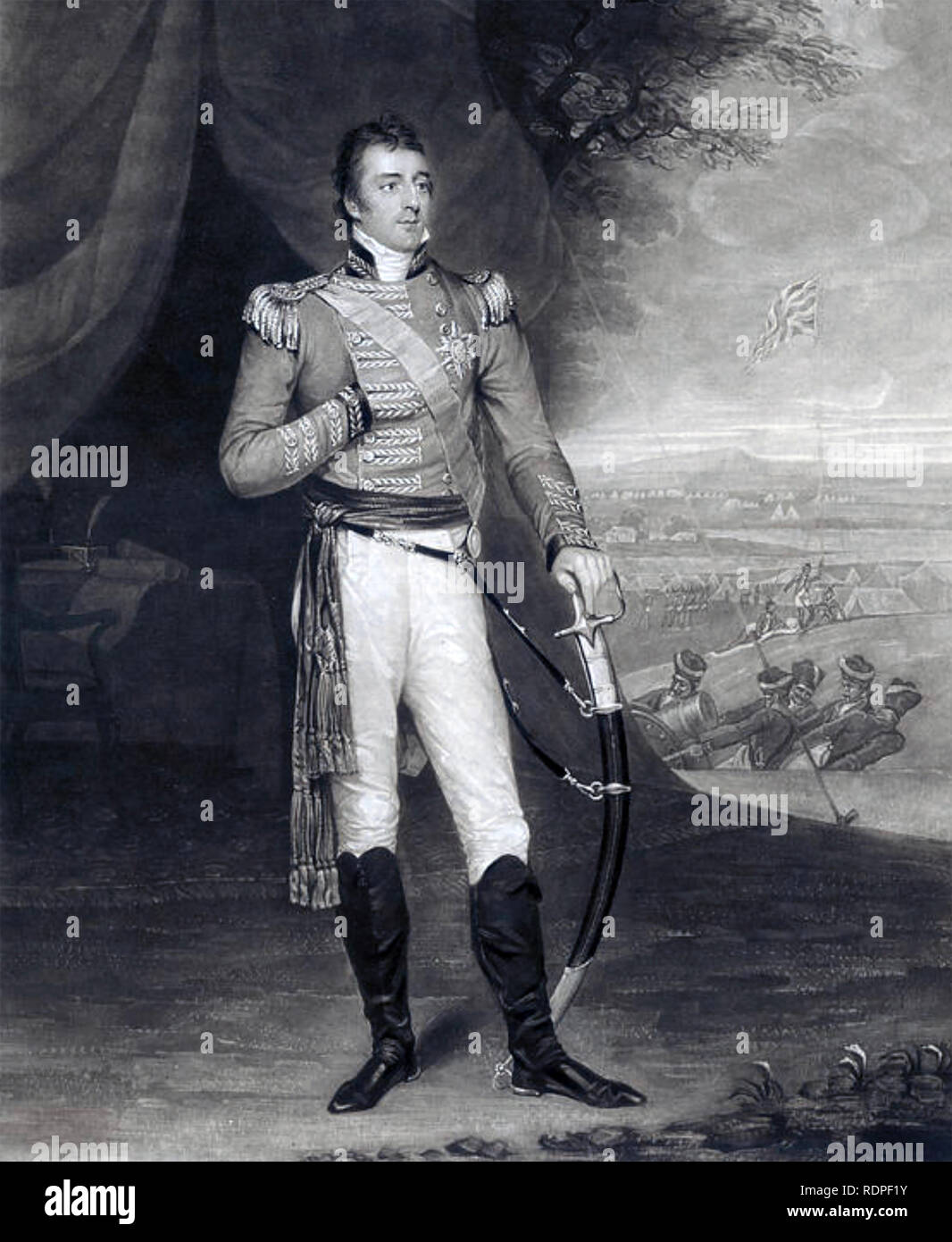 ARTHUR WELLESLEY, 1st Duke of Wellington (1769-1852) as a General about 1803 - Stock Image