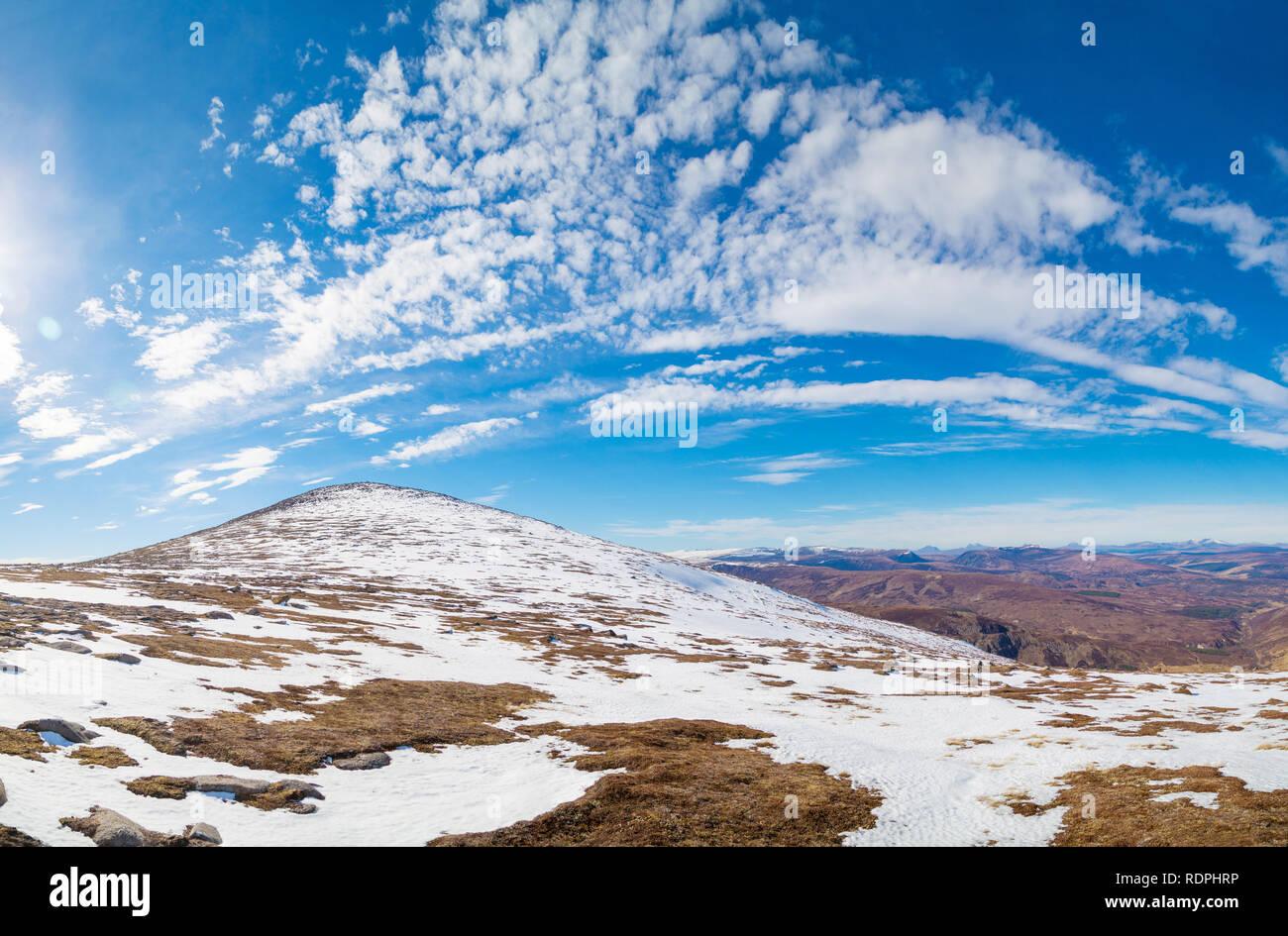 The summit of the Corbett Carn Chuinneag in Strath Carron, Ardgay - Stock Image