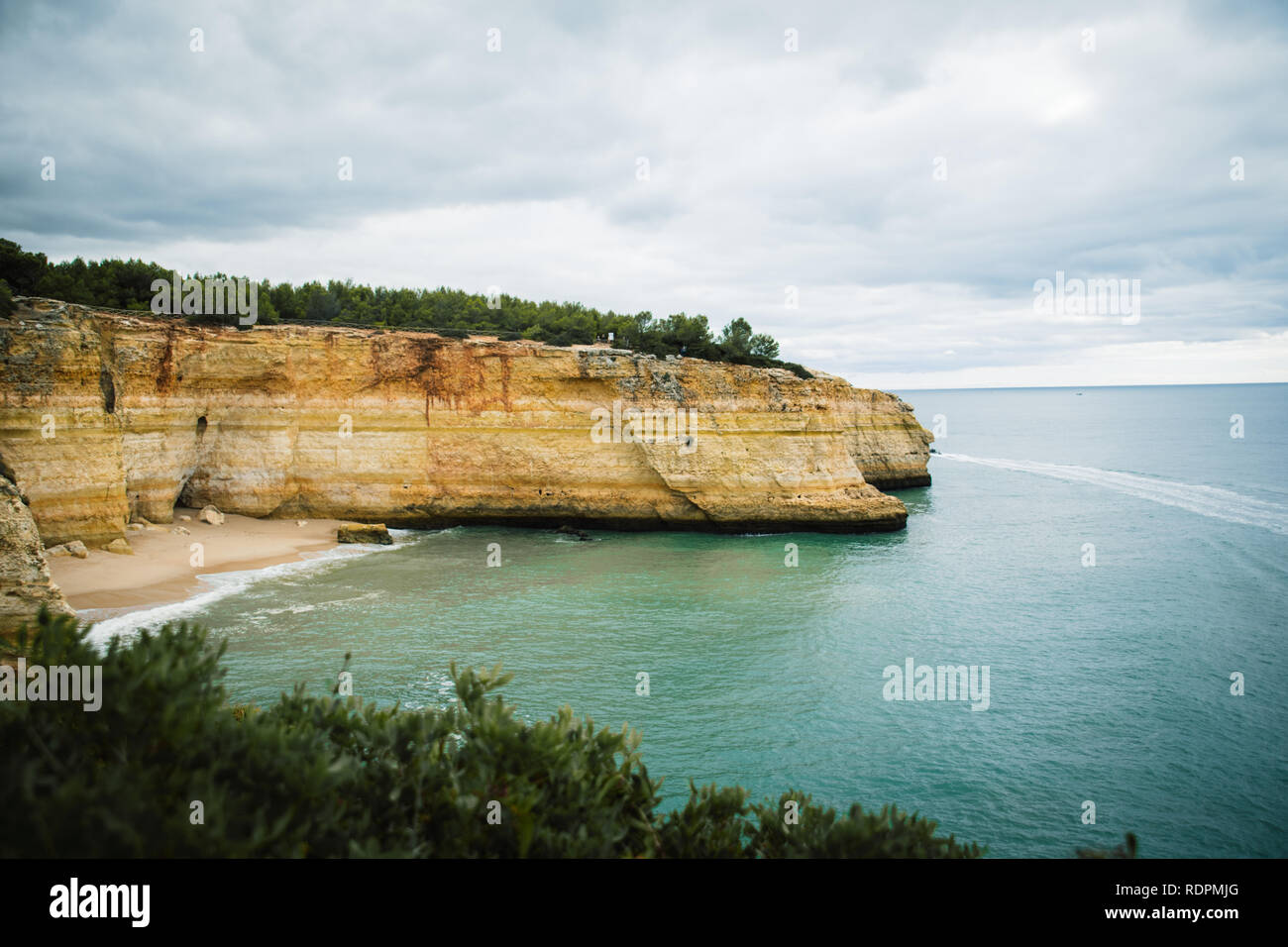 Beach and cliffs - Stock Image