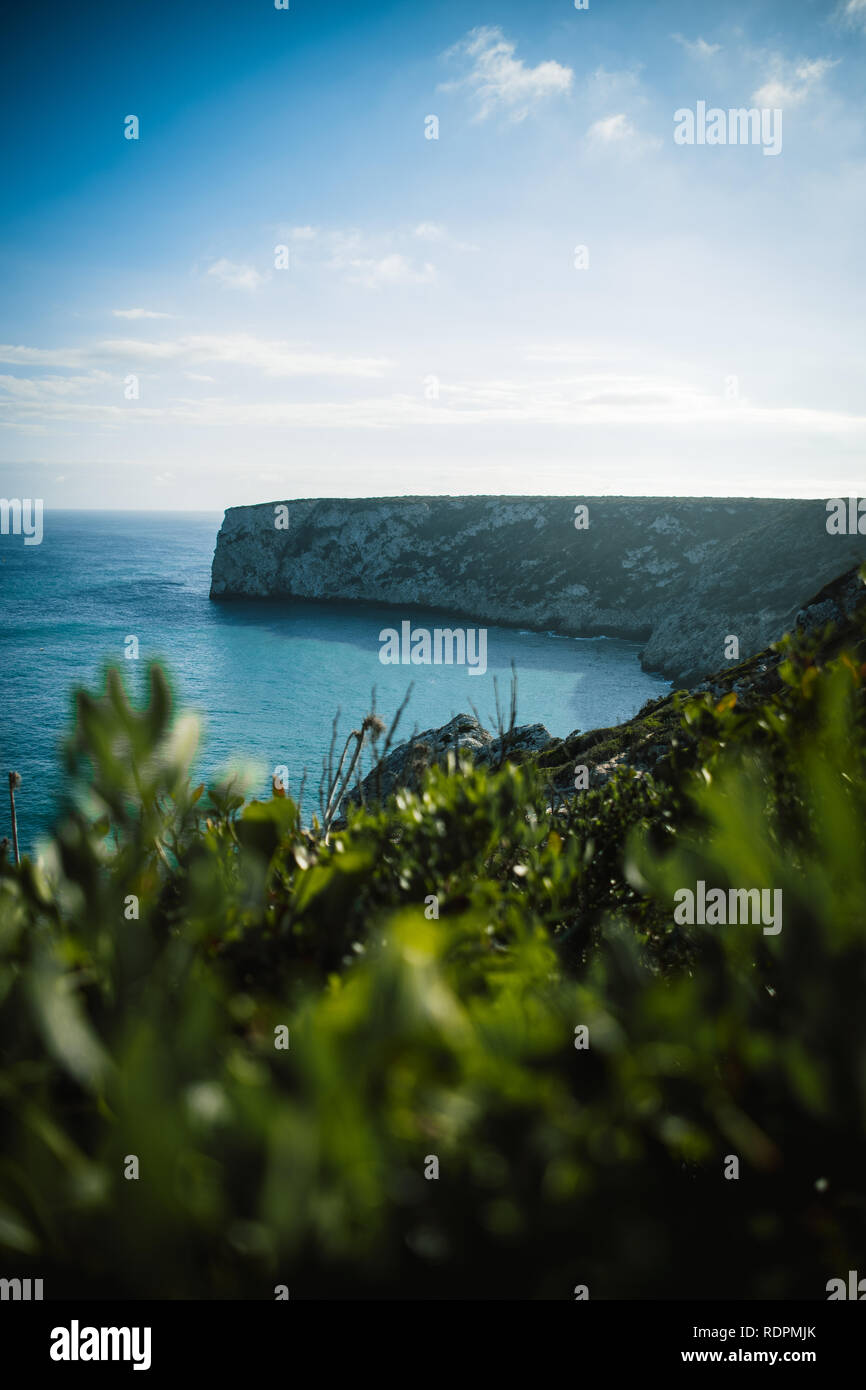 Cliffs in Portugal - Stock Image