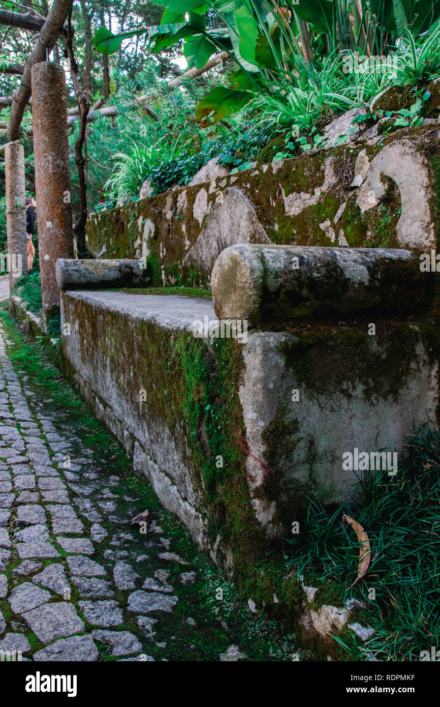 Sitting around in Sintra - Stock Image