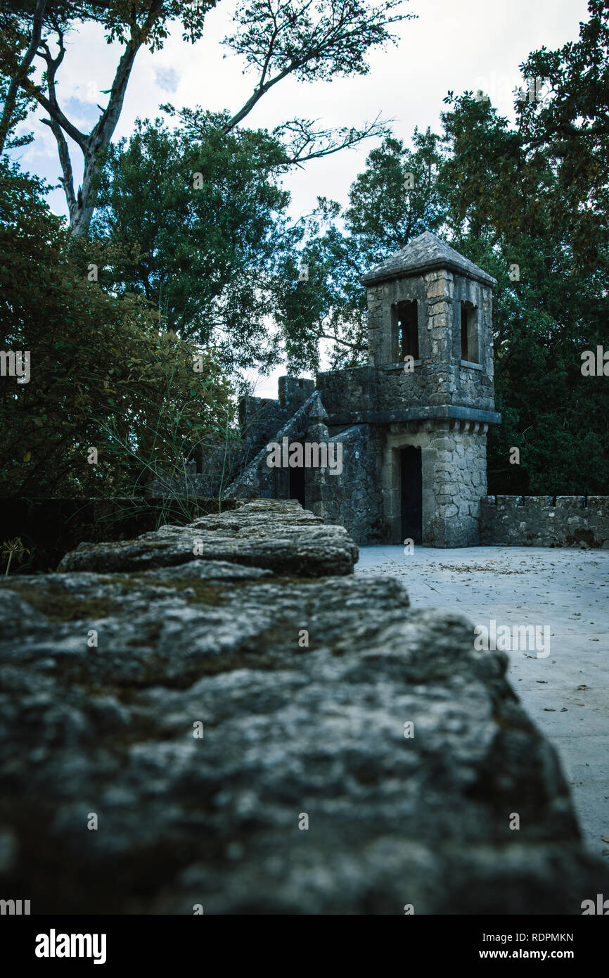 The castle in Sintra - Stock Image