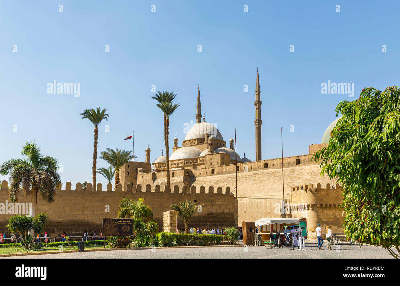 Great Mosque of Muhammad Ali Pasha within the walls of  the Saladin Citadel, a medieval Islamic fortification in  Cairo, Egypt Stock Photo