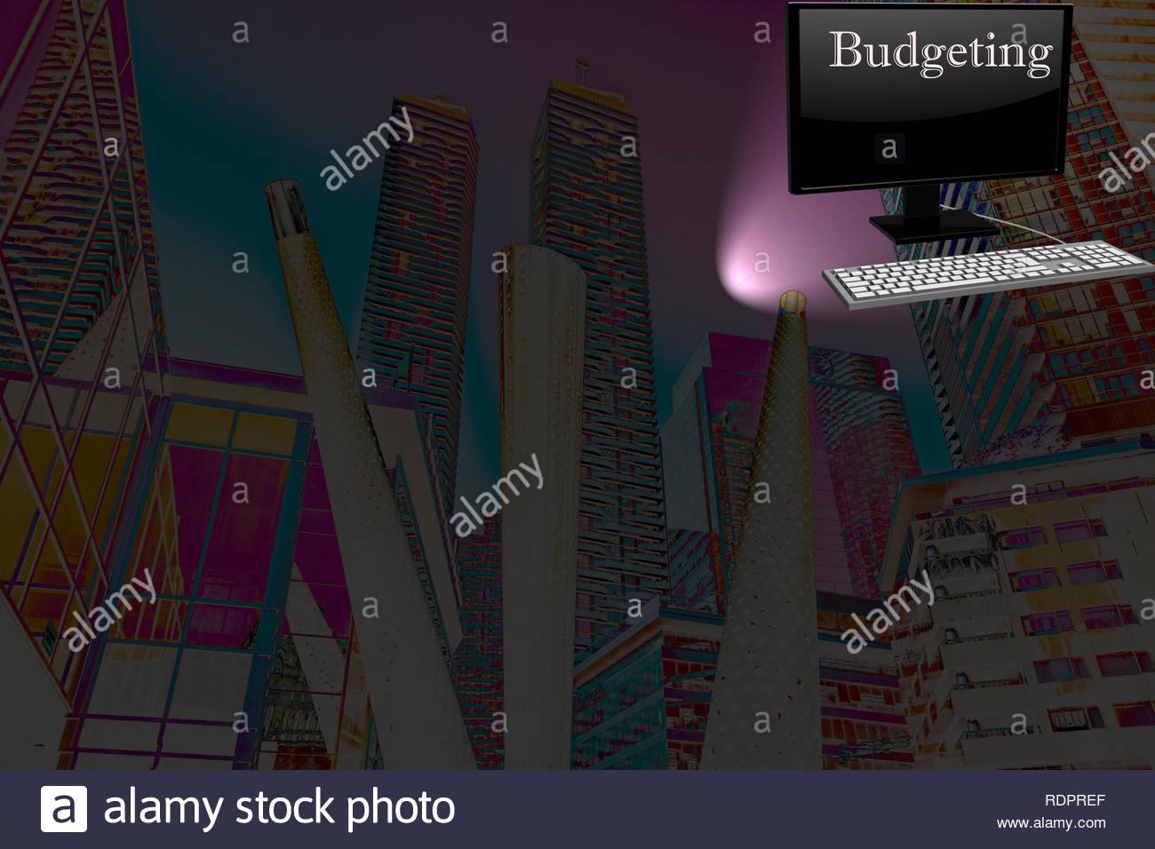 Budgeting and planning  - presentation slide - Stock Image
