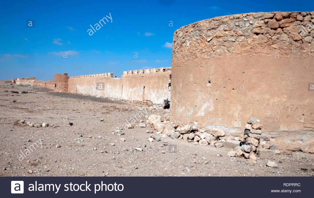 Spanish fort in Dcheira (Edchera), today abandoned and neglected - Stock Image