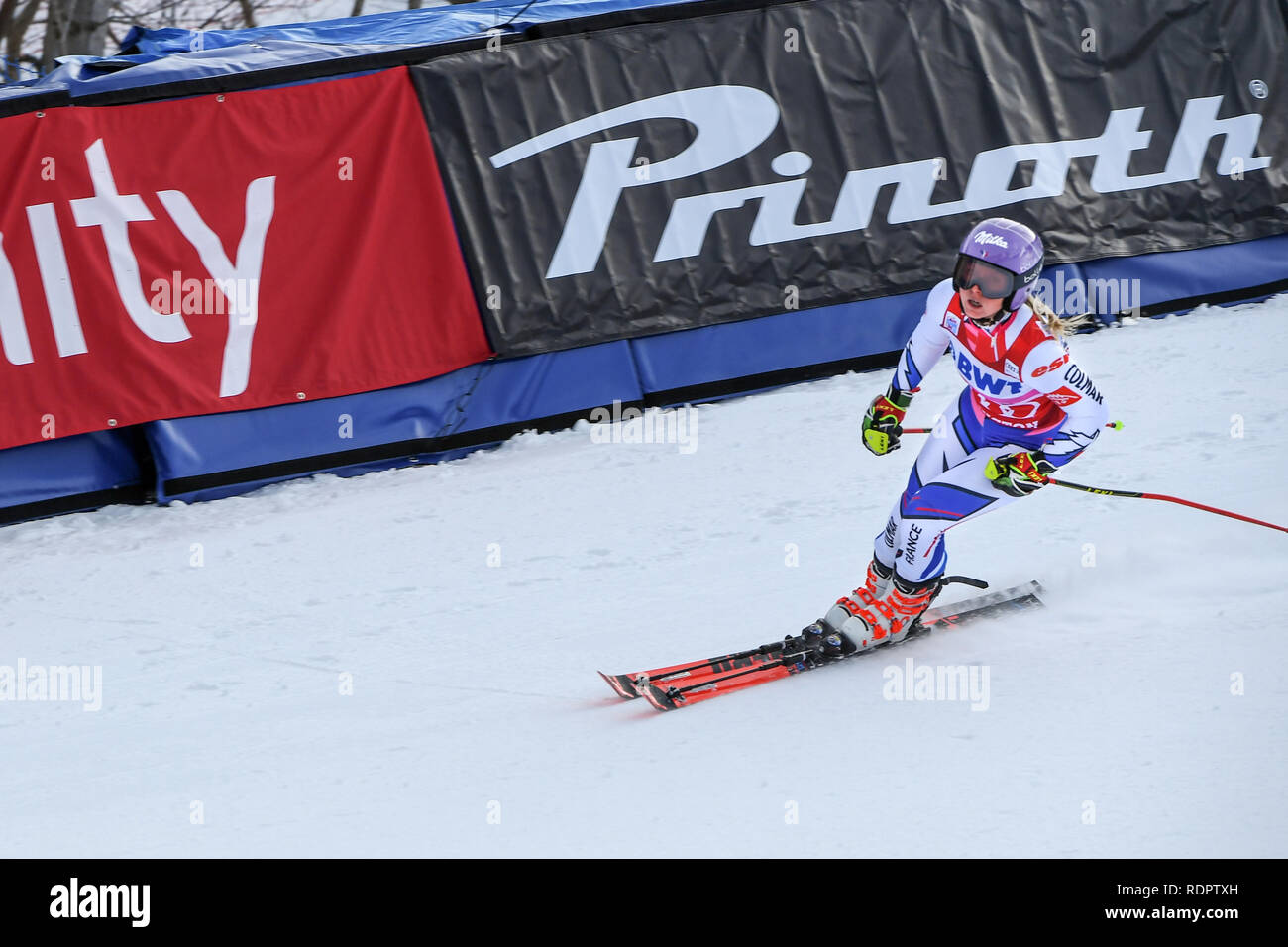 Killington Vt November 24 Tessa Worley Of France In The Finish Area After The Second Run Of The Giant Slalom At The Audi Fis Ski World Cup Stock Photo Alamy