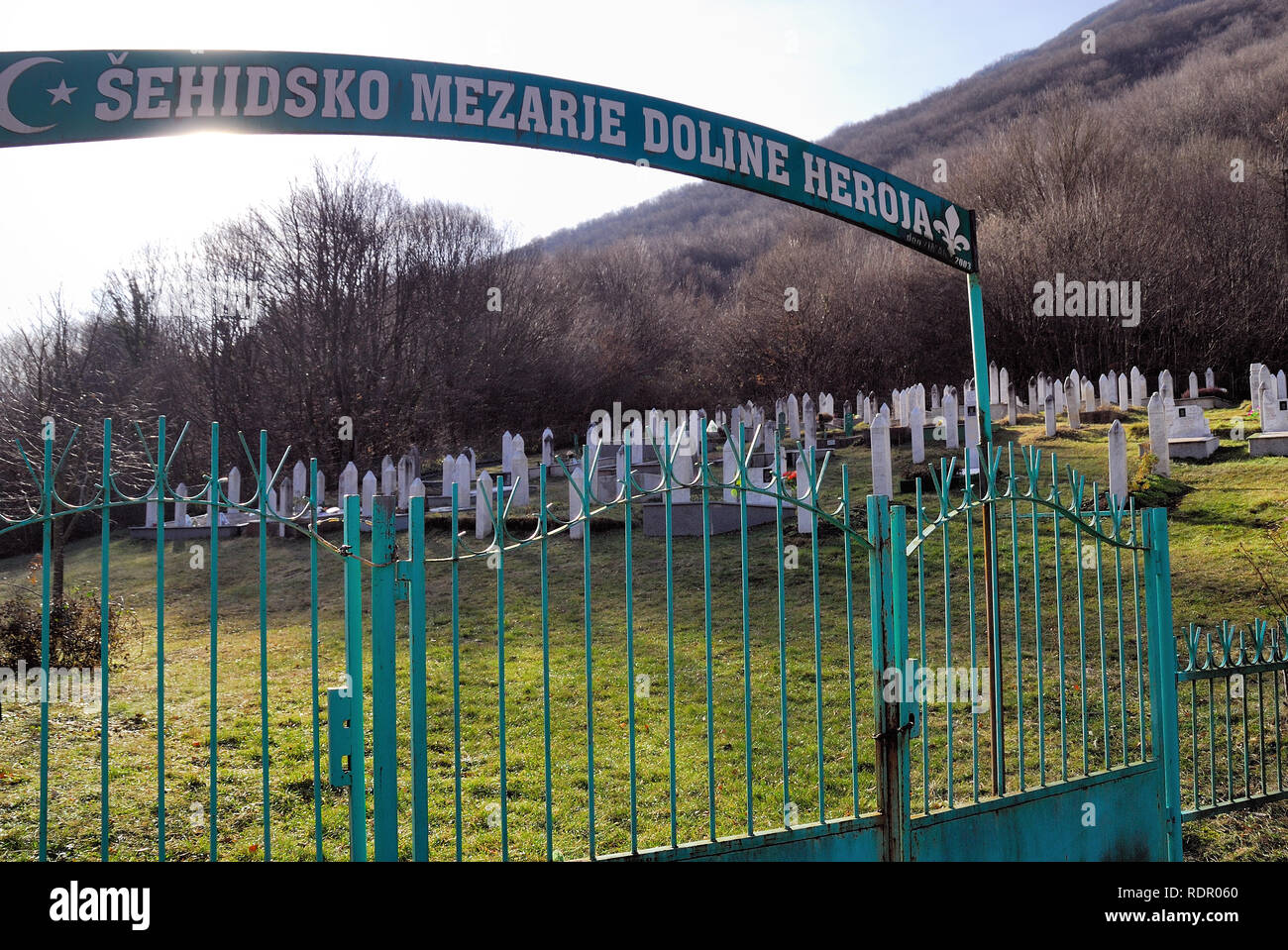 Cemetery And Monument Dedicated To The Victims Of Serb Aggression During 1992 1995 War