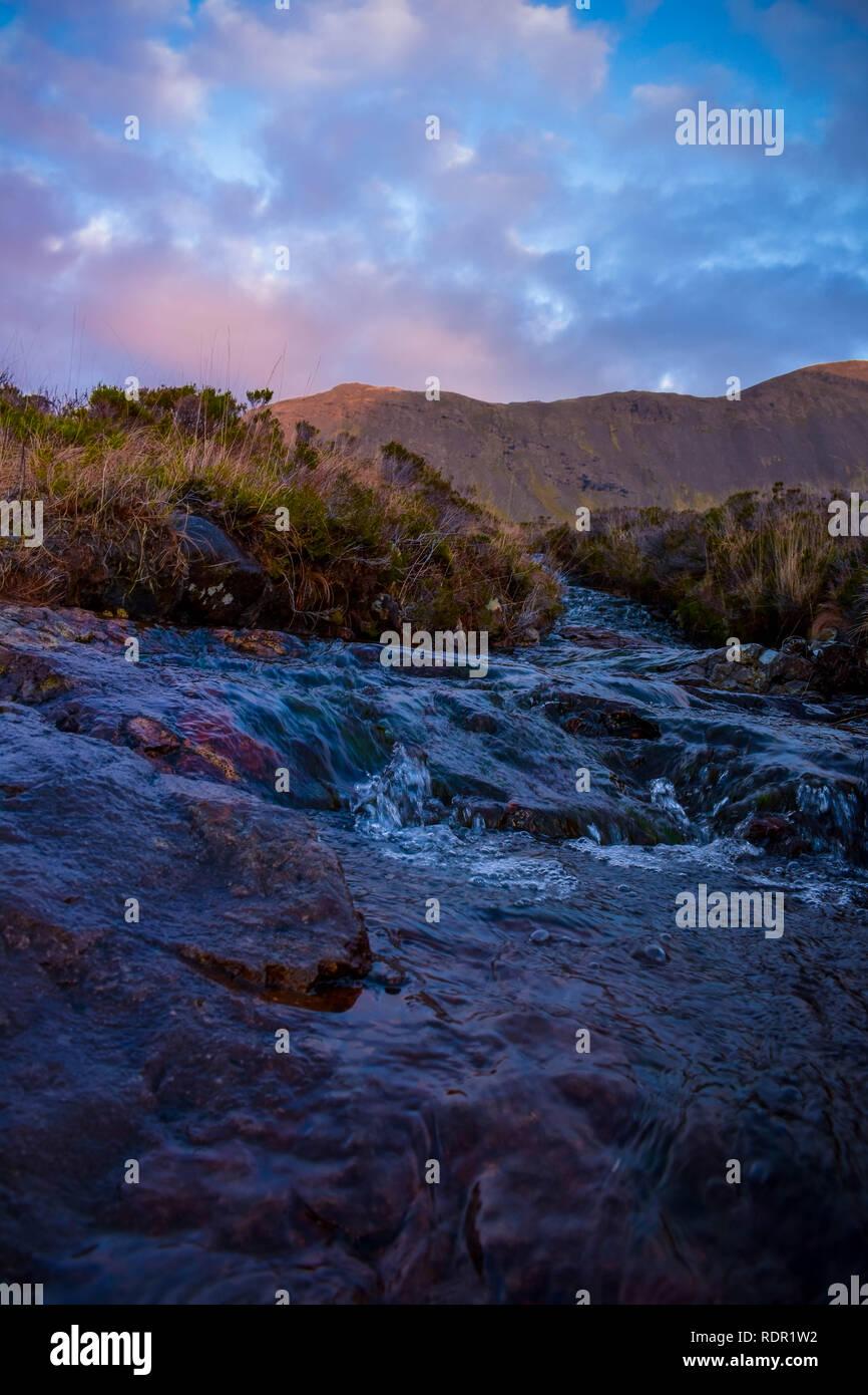 Stream at Fairy Pools, Isle of Skye, Scottish Highlands - Stock Image