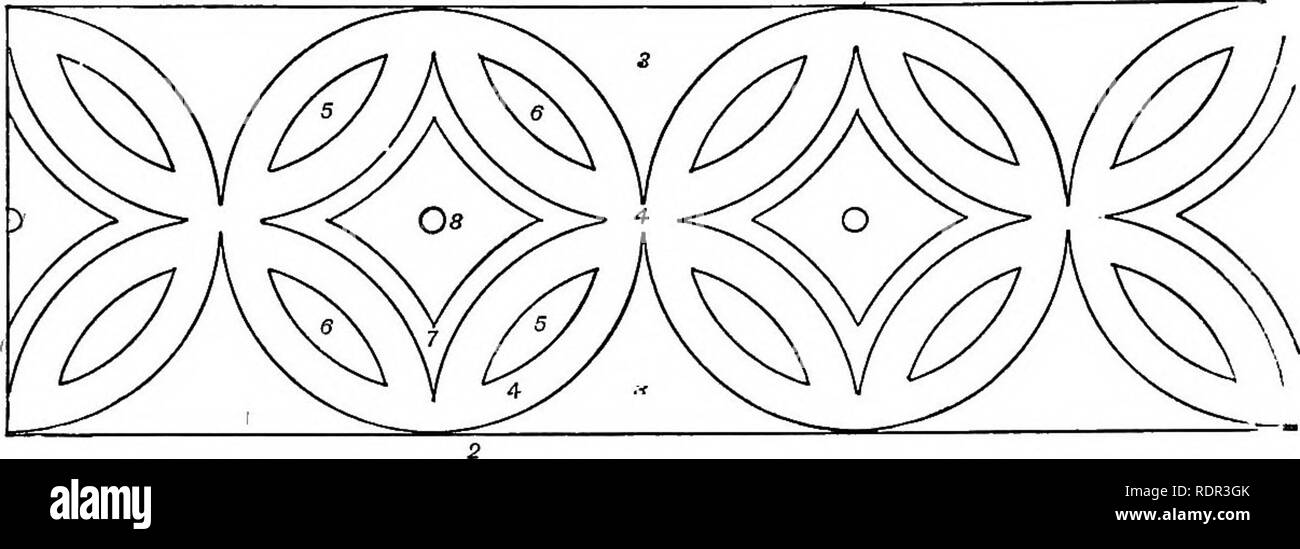 """. Cassell's popular gardening. Gardening. 104 CASSELL'S POPULAR GAEDENIITG. patterns are the most efiective, and as to their requir- ing less labour to plant and keep, that goes without saying. It is sojnetimes difficult to give a reason why certain designs and arrangements, which are nearly allied in every particular, have very difierent eflfects when placed in juxtaposition with other beds; but this and the preceding design shall illustrate our meaning. Both of them have been used in the posi- tions mentioned as best for Pig. 3, and also as """" breaks """" between the most formal carpet - Stock Image"""