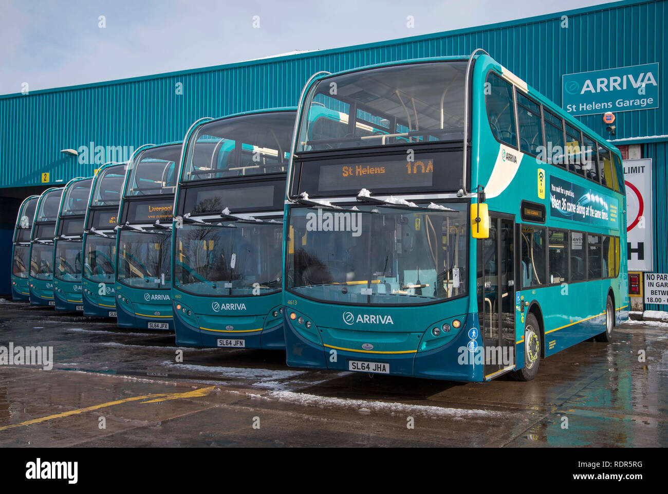 Arriva Double Decks buses. - Stock Image