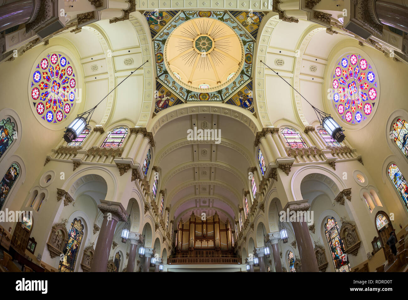 Interior of the Sacred Heart Catholic Church in downtown Tampa, Florida - Stock Image