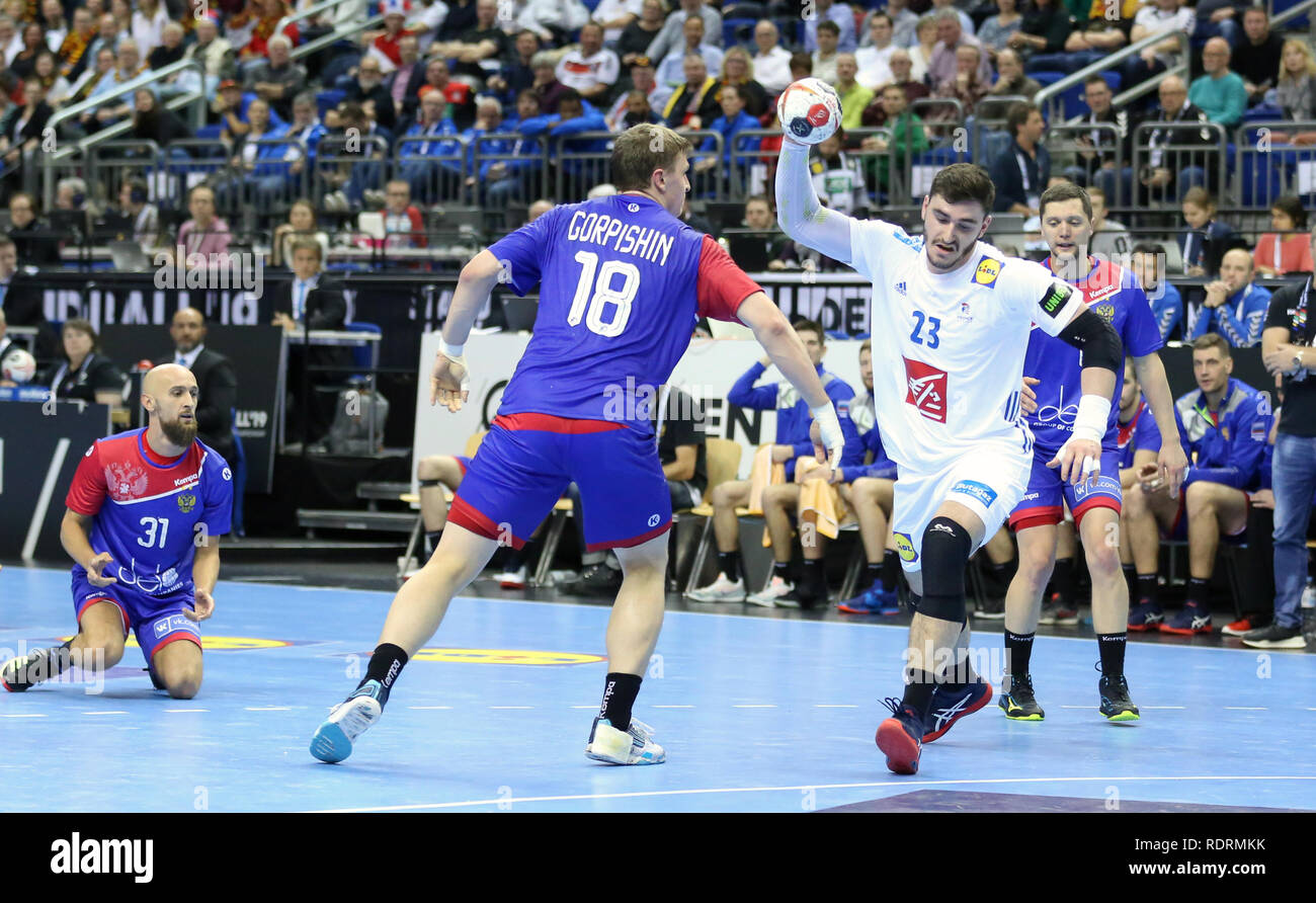 Germany. Berlin, Germany. 17th Jan 2019. IHF Handball Men's World Championship, Berlin, Germany.Ludovic Fabregas for France Credit: Mickael Chavet/Alamy Live News - Stock Image