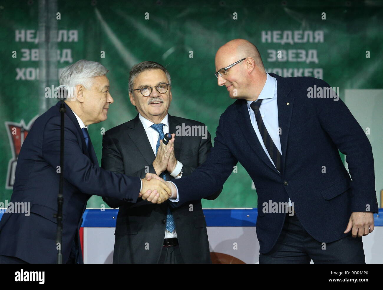 Kazan Russia January 19 2019 Rene Fasel C President Of The