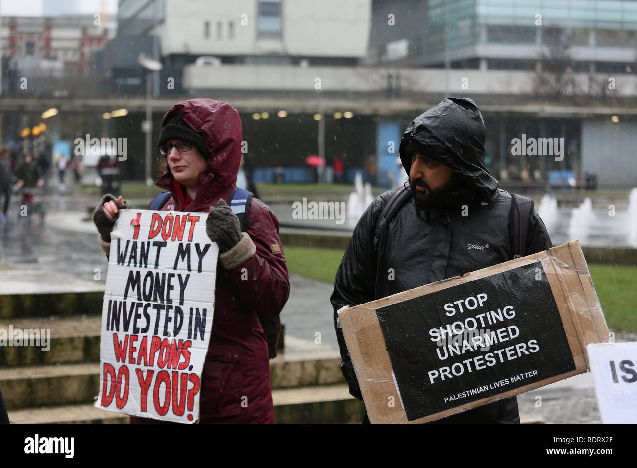 Manchester, UK  19th January 2019  A women holds up a