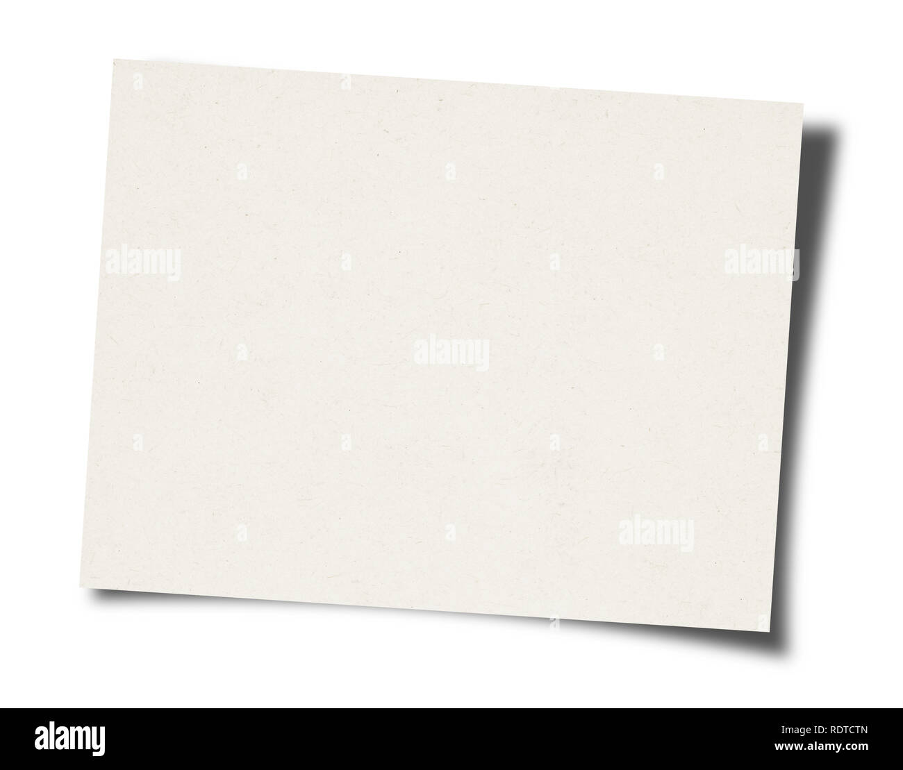 Blank sheet of paper background - Stock Image