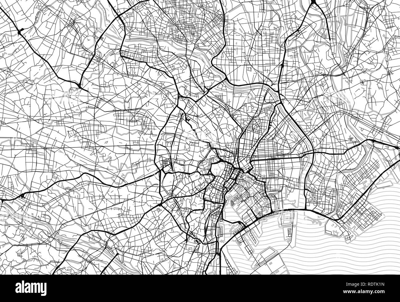 Japan Map Black and White Stock Photos & Images - Alamy on physical map of tokyo, subway map of tokyo, climate map of tokyo, clear map of tokyo, blank map japan, rail map of tokyo, satellite map of tokyo, political map of tokyo, topographical map of tokyo,