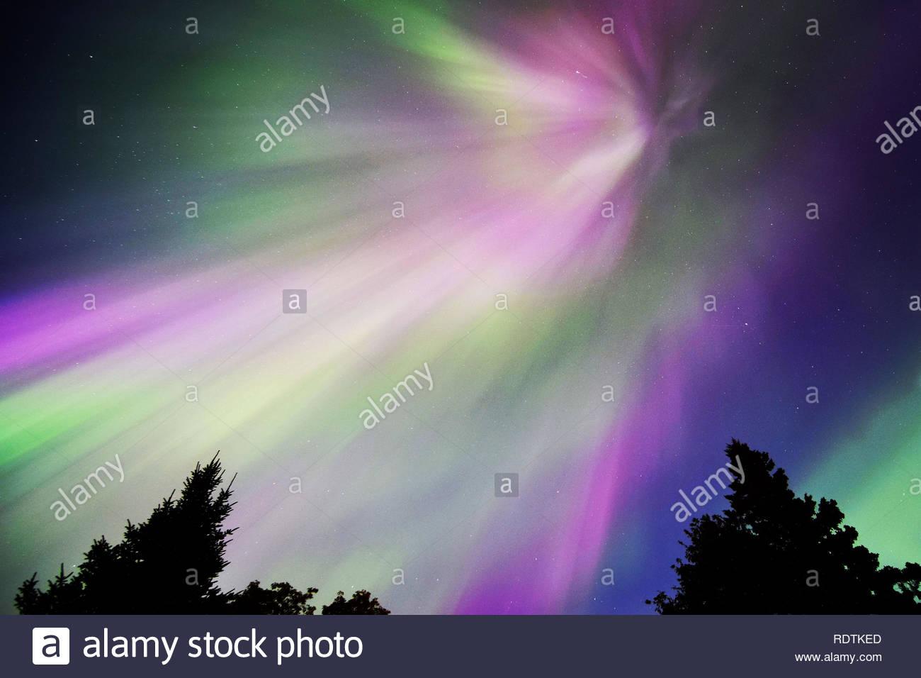 Northern Lights Starburst - Stock Image