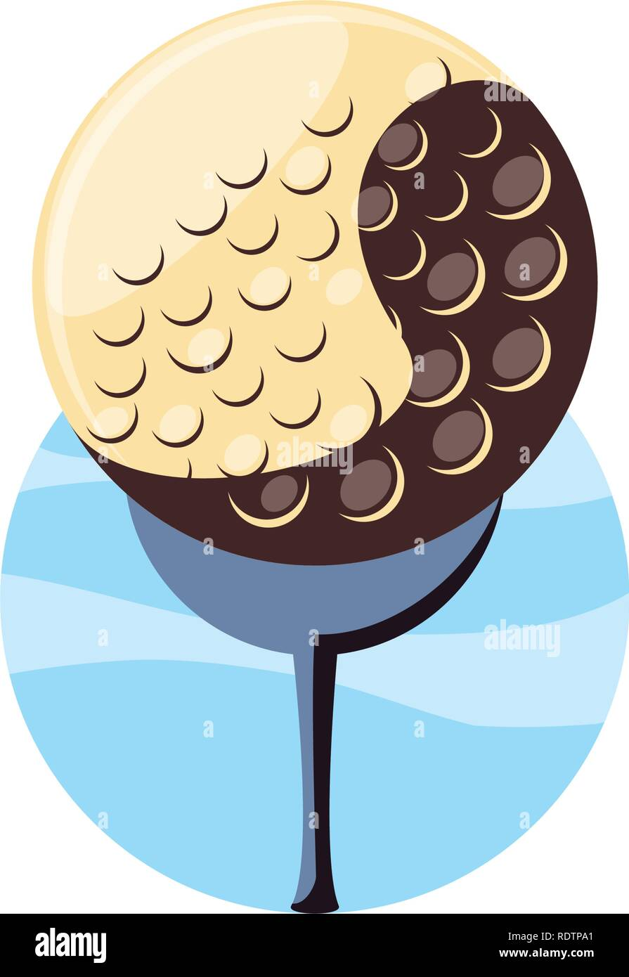 golf ball isolated icon vector illustration design - Stock Image