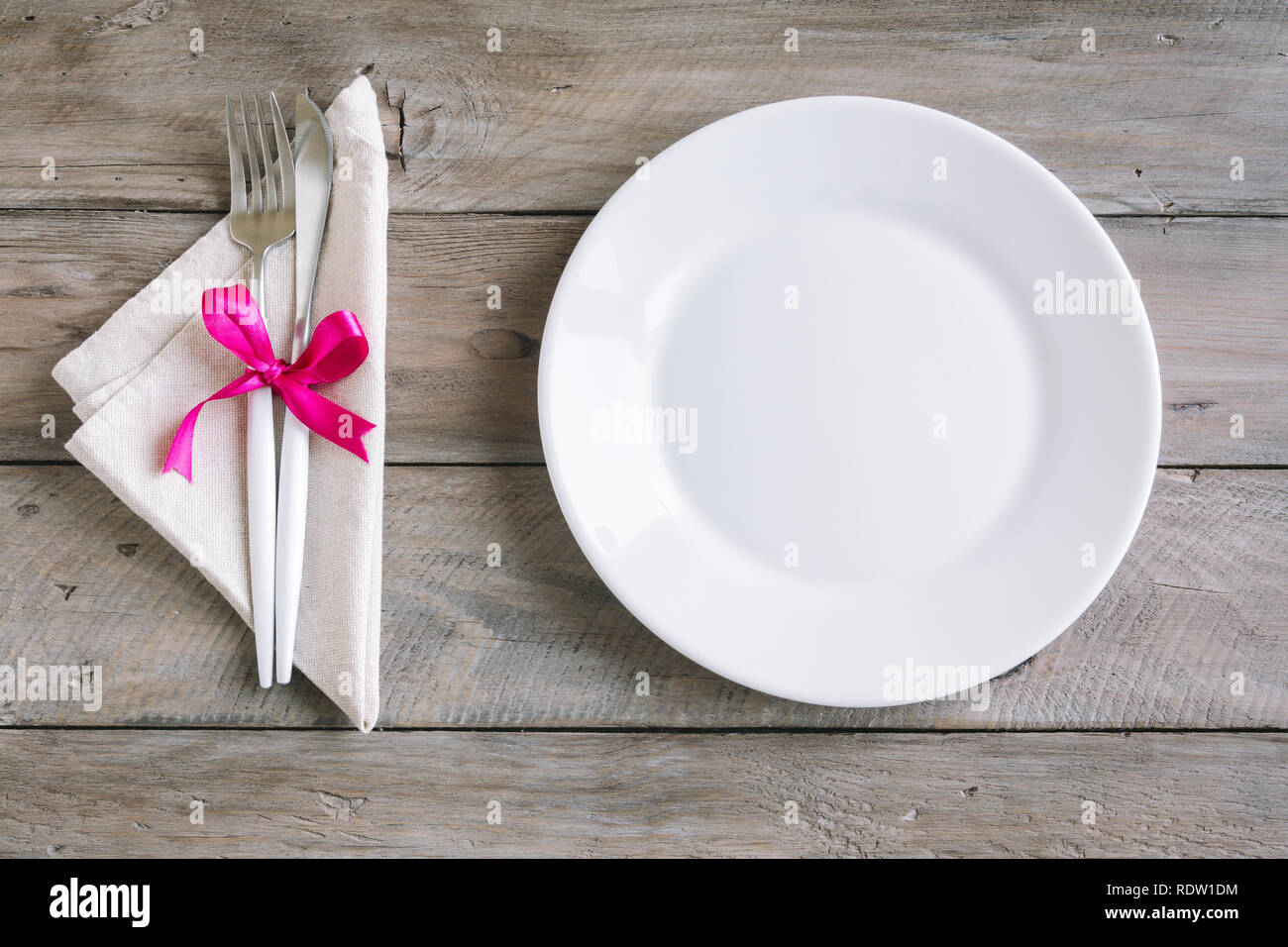 Cutlery Set Pink Ribbon On Stock Photos Cutlery Set Pink Ribbon On