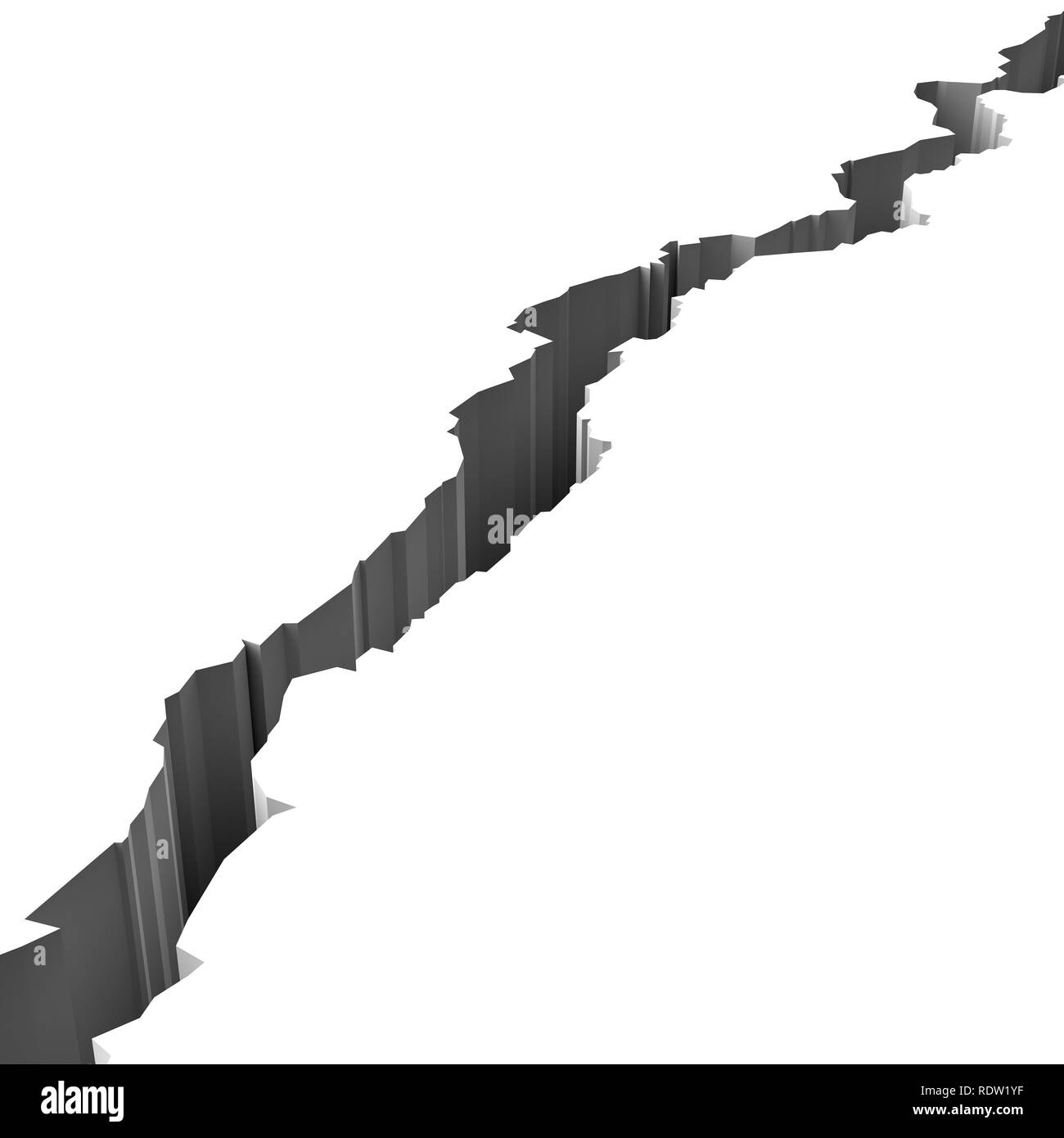 Crack In White Surface 3d Illustration Stock Photo
