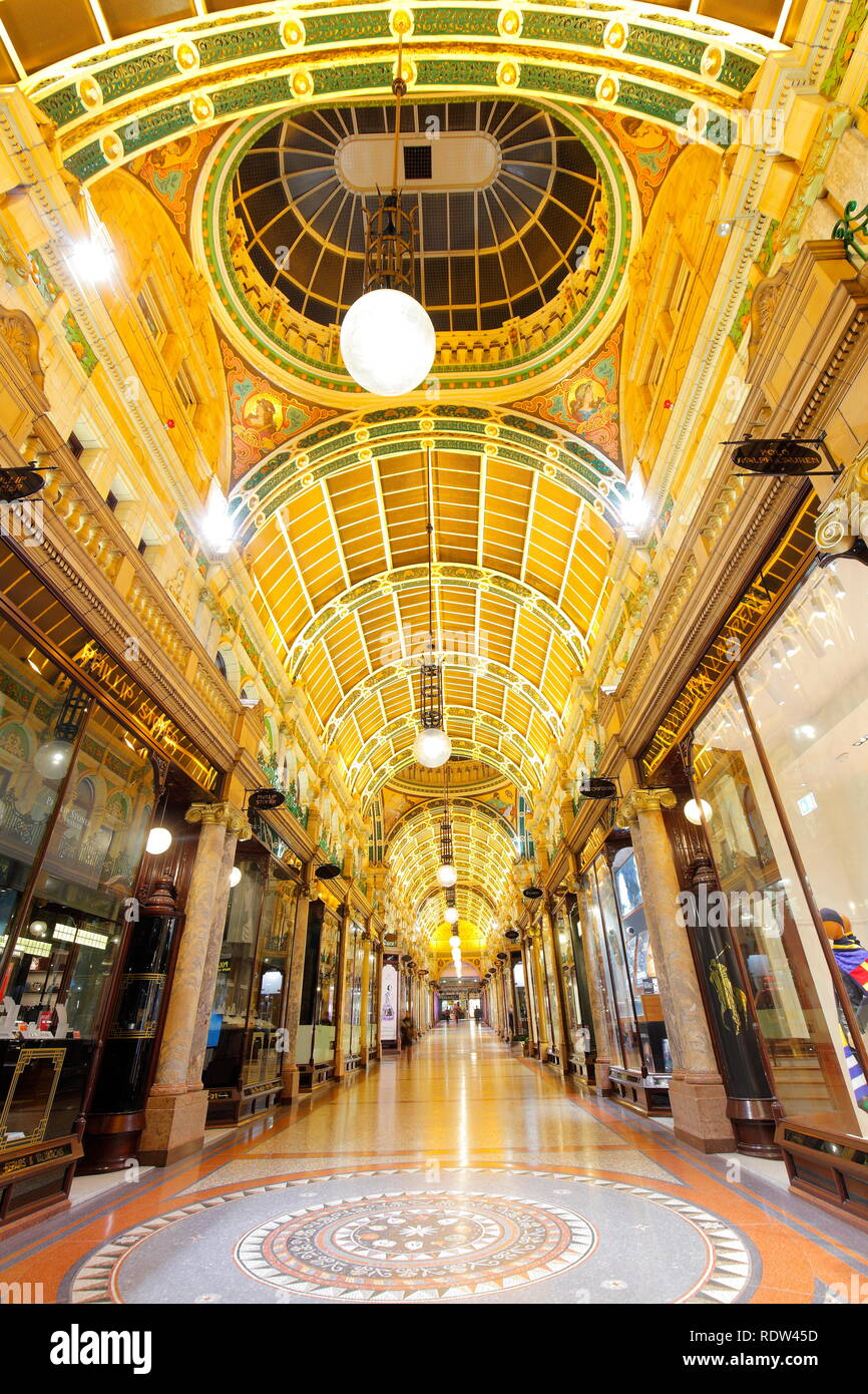 County Arcade is part of the Victoria Quarter Shopping Complex in Leeds. - Stock Image