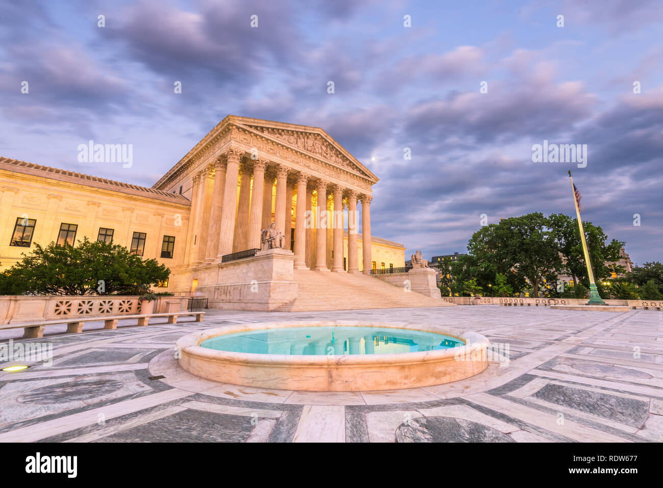 United States Supreme Court Building in Washington, DC, USA. Stock Photo