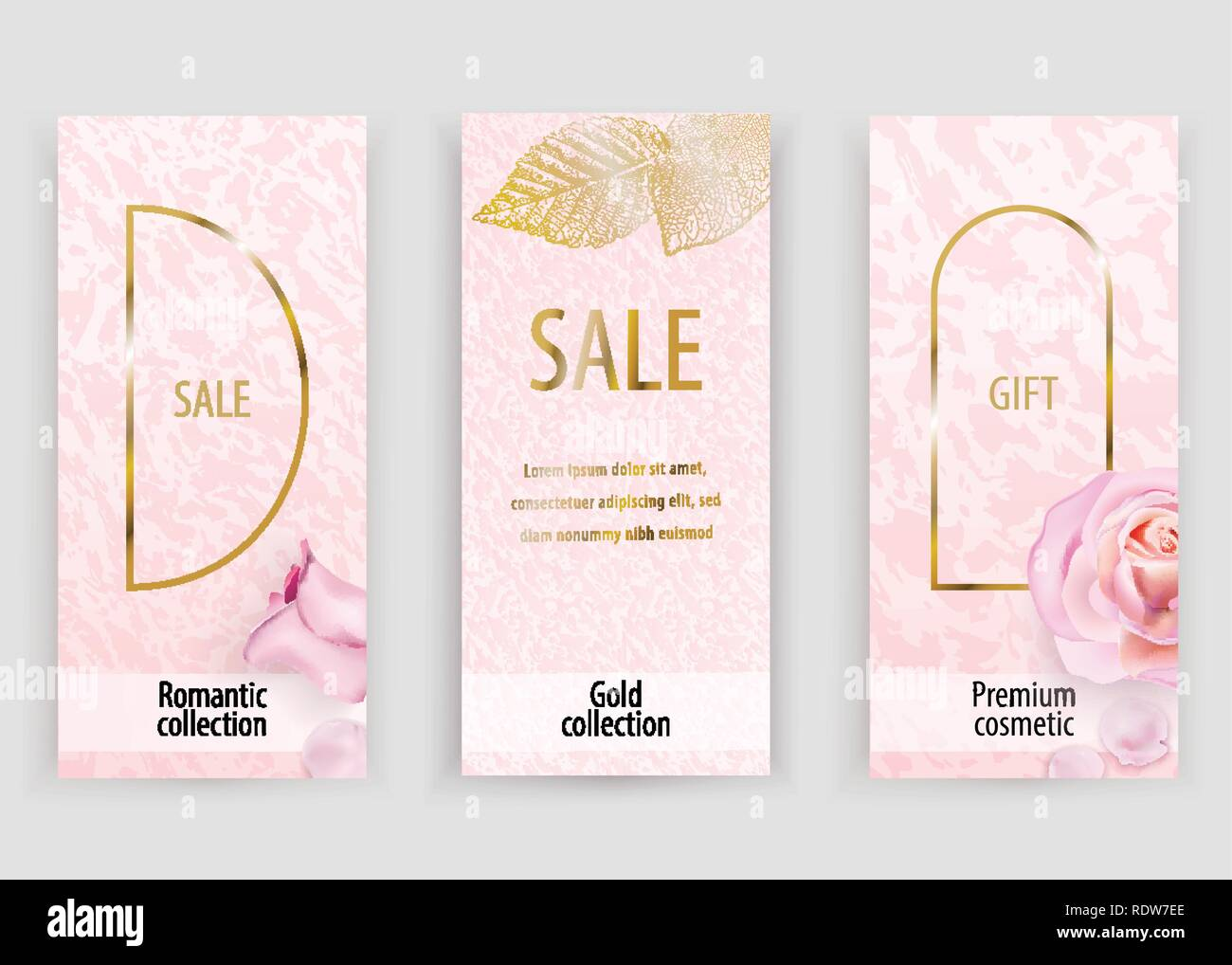Pink Gold Vector Marble Background For Wedding Cosmetic 8 March Parfume Shops Stock Vector Image Art Alamy