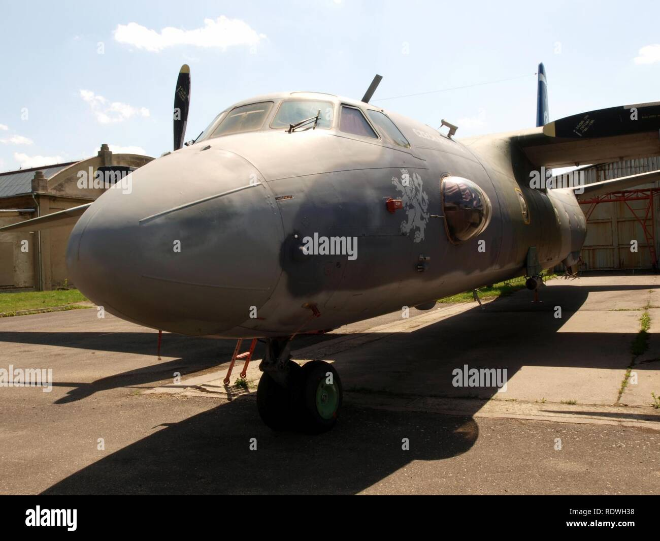 Antonov An-26 Czech airforce 2507 pic2. - Stock Image