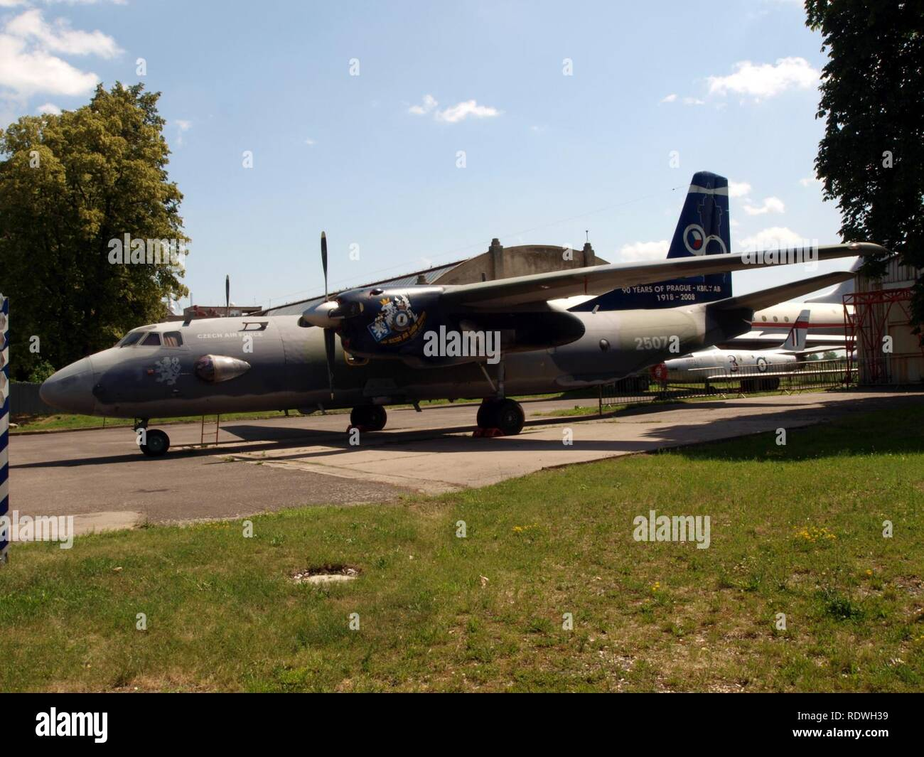 Antonov An-26 Czech airforce 2507 pic3. - Stock Image