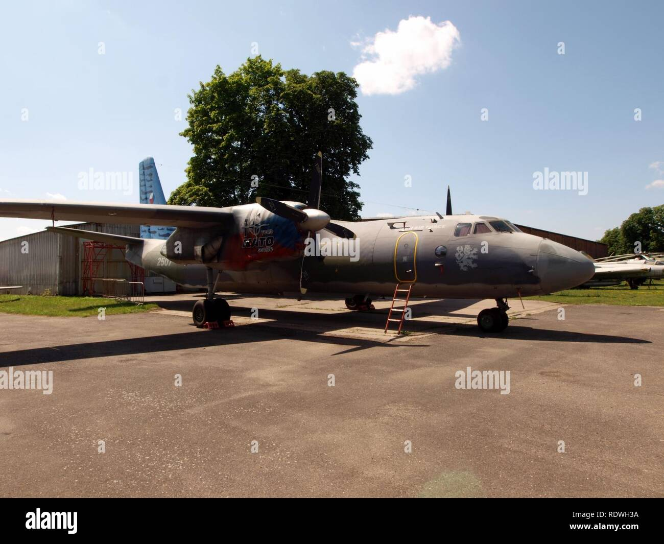 Antonov An-26 Czech airforce 2507 pic4. - Stock Image