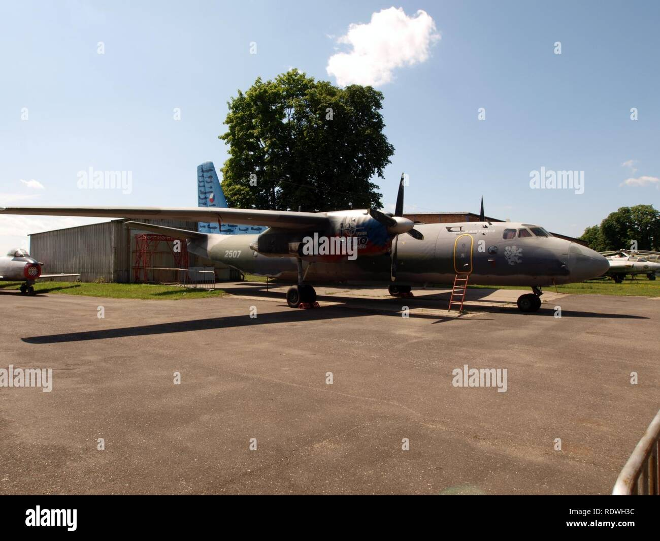 Antonov An-26 Czech airforce 2507 pic5. - Stock Image