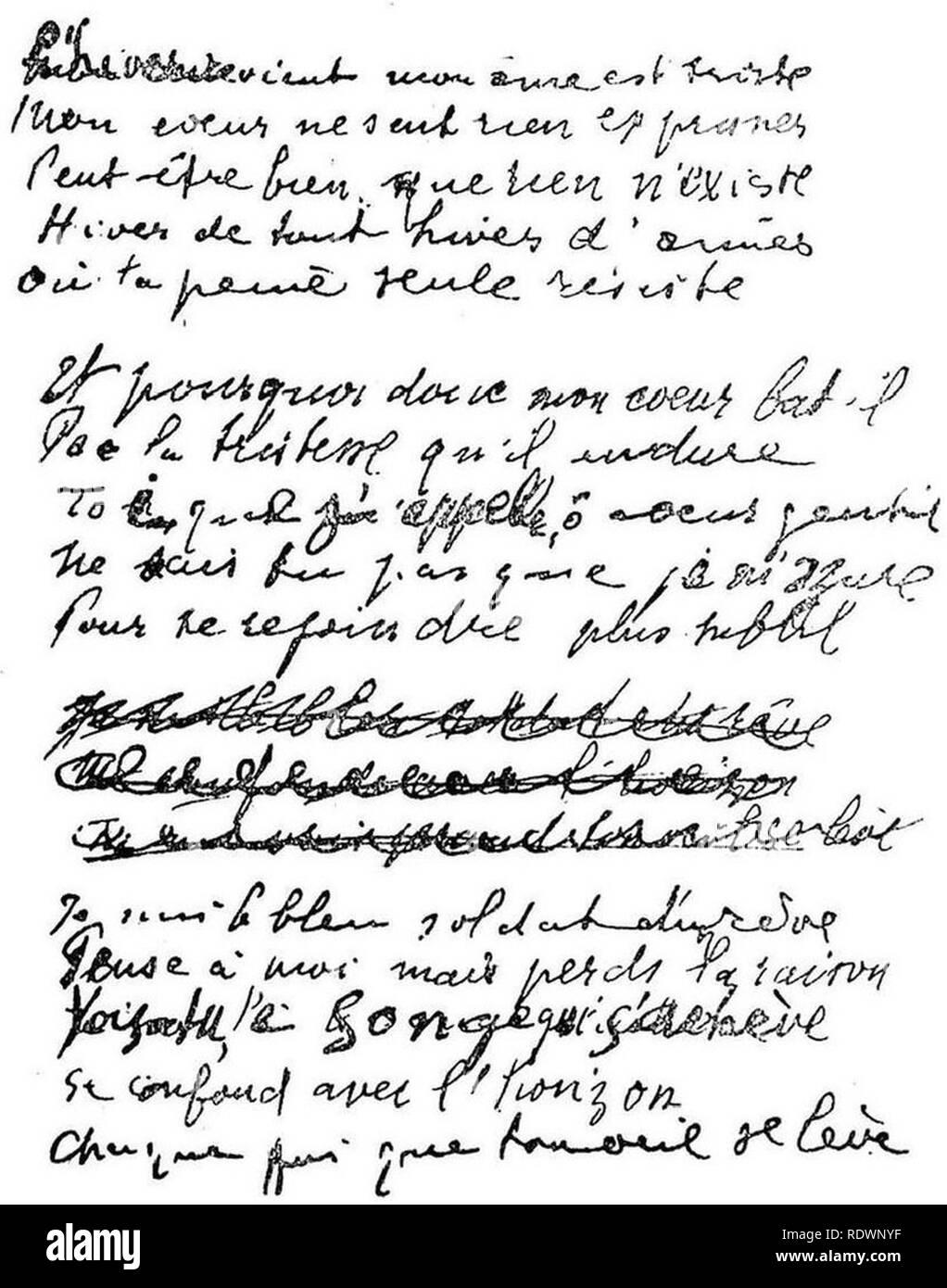 Apollinaire - Lettres à sa marraine, illust. 03. - Stock Image