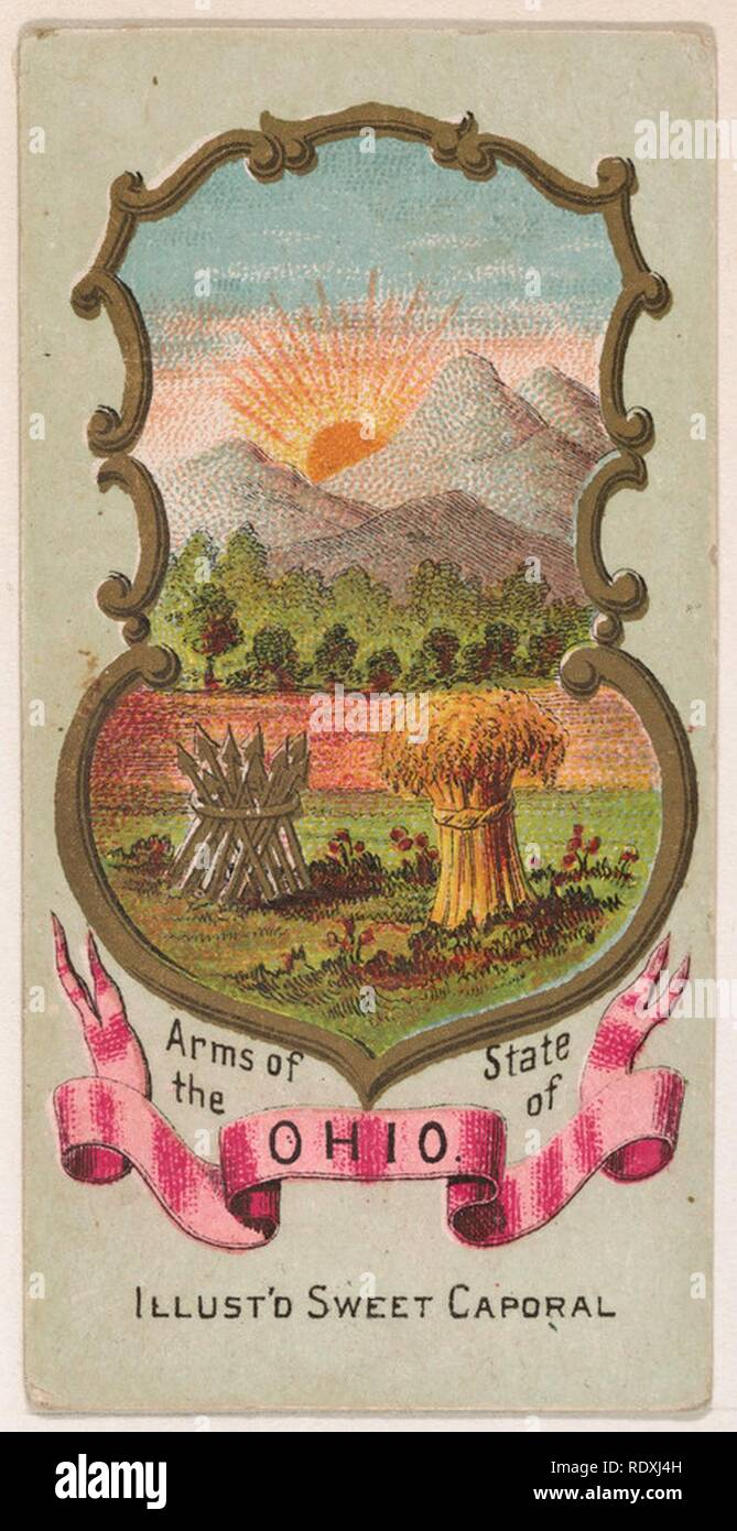 [arms-of-the-state-of-ohio-from-the-military-series-n224-issued-by-kinney-tobacco-company-to-promote-sweet-caporal-cigarettes-RDXJ4H]