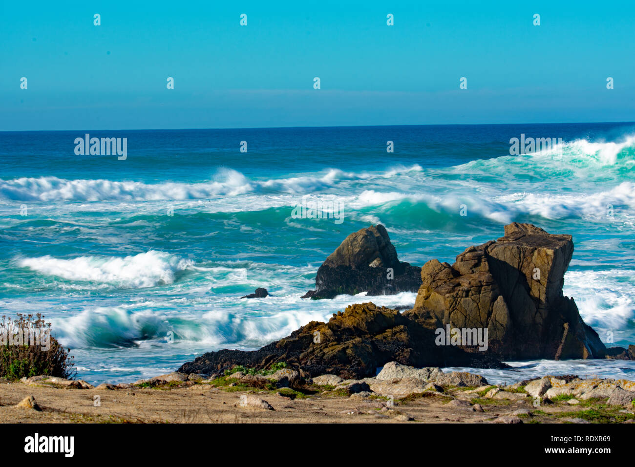The best place on earth. Down by the seashore where you can be free. peace love and prosperity.my slice of heaven. - Stock Image