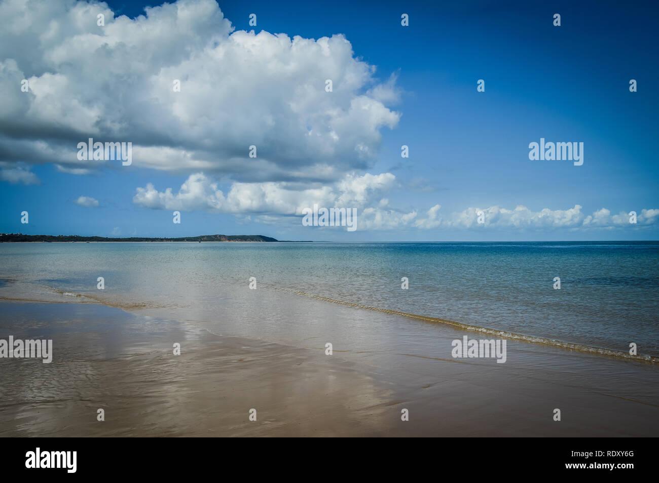 Pristine and Turquoise Portuguese Island beach near Inhaca Island in Maputo Mozambique Stock Photo