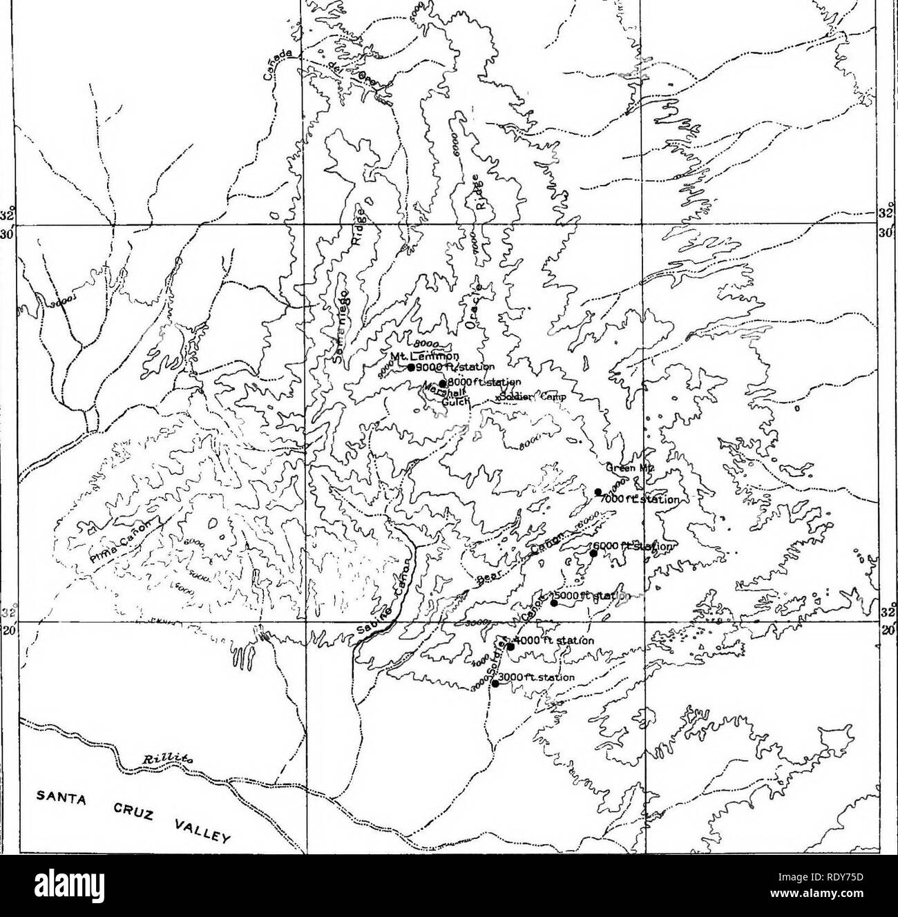 Topographic Map Of A Mountain.Topographic Map Black And White Stock Photos Images Alamy